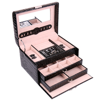 3 Types Multi layer Jewelry Storage Box Pink White Women Storage Box Portable Display Cases For Girls Jewelry Organizer For Gift