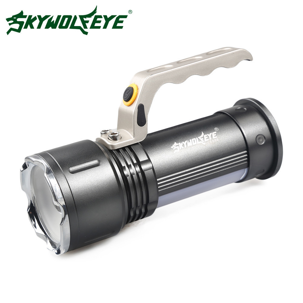 Skywolfeye LED Flashlight Zoomable CREE XM-L Q5 Lantern Hand Lamp Handlamp Flashlight Rechargeable 18650 Light Searchlight cree xm l t6 bicycle light 6000lumens bike light 7modes torch zoomable led flashlight 18650 battery charger bicycle clip
