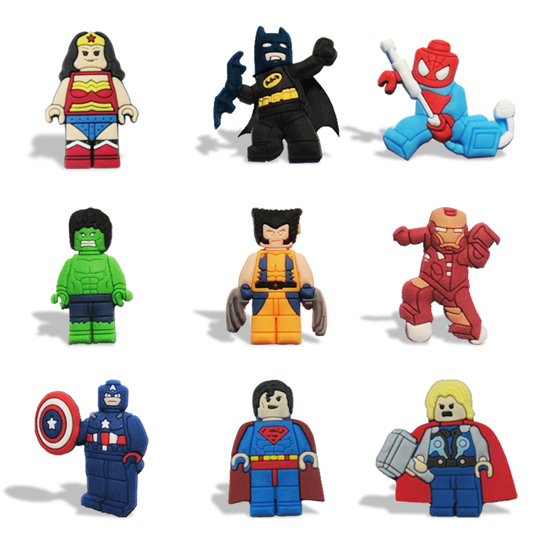 100Pcs/lot Justice League Magnets Blackboard Magnets Refrigerator Stickers Kids Educational Toy Travel Accessories Luggage Tags 100pcs lot stm8s003f3p6 st tssop20