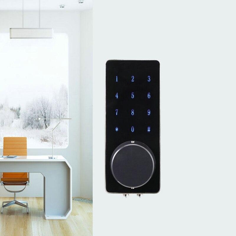 Новый стиль Универсальный черный электронный дверной замок ручка с паролем ключ карта для офиса дома безопасности аксессуары serrure de porte