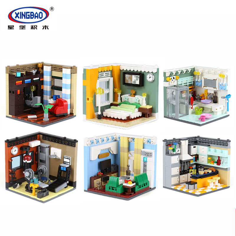 Фотография XingBao 01401 2074Pcs Genuine The Residential House Set Self-Assembling Building Series Building Blocks Bricks Educational Toys