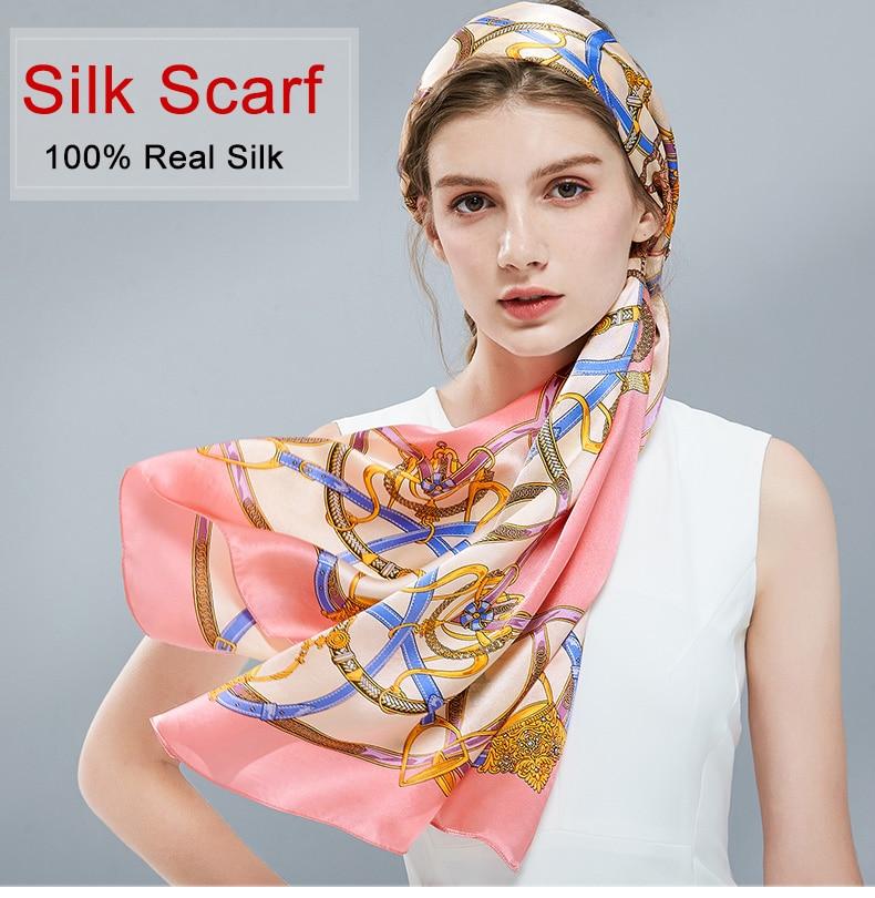 bysifa Friendly New Leopard Women Silk Scarf Winter Beige Green 100% Silk Long Scarves Ladies Brand Thin Satin Silk Neck Scarf Easy To Use