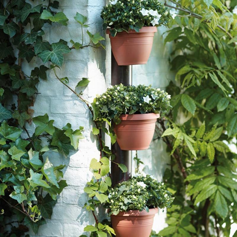 3 Pc/Lot Unique Gutter Downspout Garden Flower Pot Drain Pipe Flower Pots Tubs Drain Pipe Garden Planters