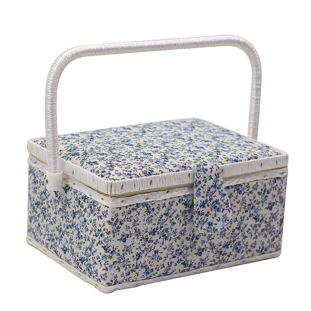 blue flower jewelry storage boxes modern sewing bins gift box 2417513cm