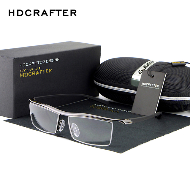 HDCRAFTER 2017  Reading Glasses Frame Optical Computer Radiation-Resistant Myopia Eyeglasses Plain Mirror Sunglasses oculos