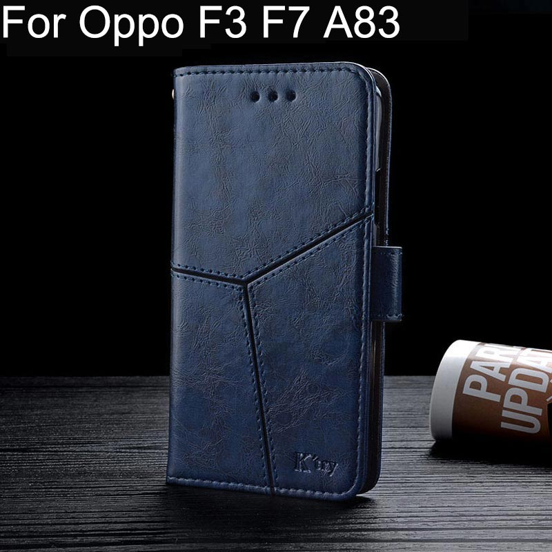 Flip Leather Phone Case for OPPO F3 F7 A83 Cover K style Vintage Business Design Coque for oppo F3 F7 A83 fundas capa para