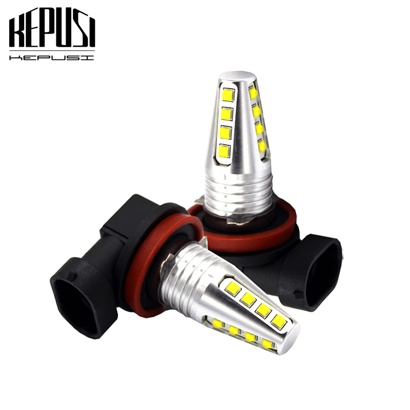 2X Car <font><b>LED</b></font> Light <font><b>H8</b></font> H11 H9 80W <font><b>cree</b></font> chip High Power Fog Auto Car Motor Truck Canbus DRL Day running light Driving lamp White 12V image