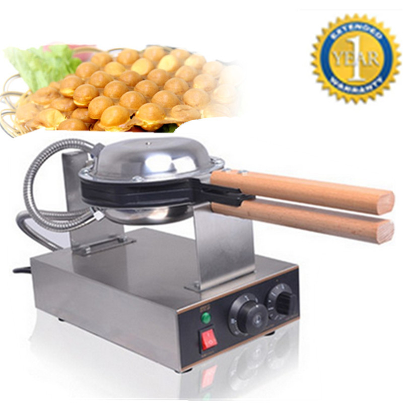 Фотография High Quality Hong Kong Egg Waffle Maker Machine 220V 110V QQ Egg Puff Machine