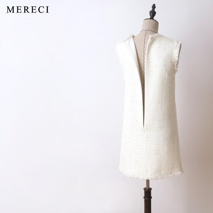 Modo Puntino Veste Il Nuovo Vestito 2018 Elegante Donne Di Tweed Delle Maniche Senza Breve Del Jacquard Autunno Bianco Inverno Cambio vCq4EOnw