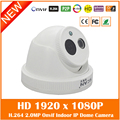 Hd 2.0mp 1080p Dome Ip Camera Indoor Infrared Night Vision Security Surveillance Cctv Cmos White Webcam Freeshipping Hot Sale