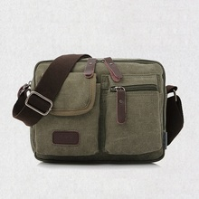 High Quality Multifunction Men Canvas Bag Casual Travel Bolsa Masculina Men's Crossbody Bag Men Messenger Bags   LJ-323
