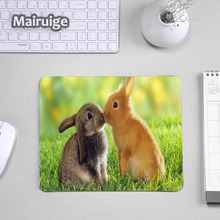 Mairuige So Cute Animals Rabbit Pattern Pet Mousepads Computer Mini Pc Tablet Game Gaming Mouse Pad Mat for Decorate Dog Cat