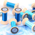 20 м голубая шелковая ветка, ручная вышивка Spiraea