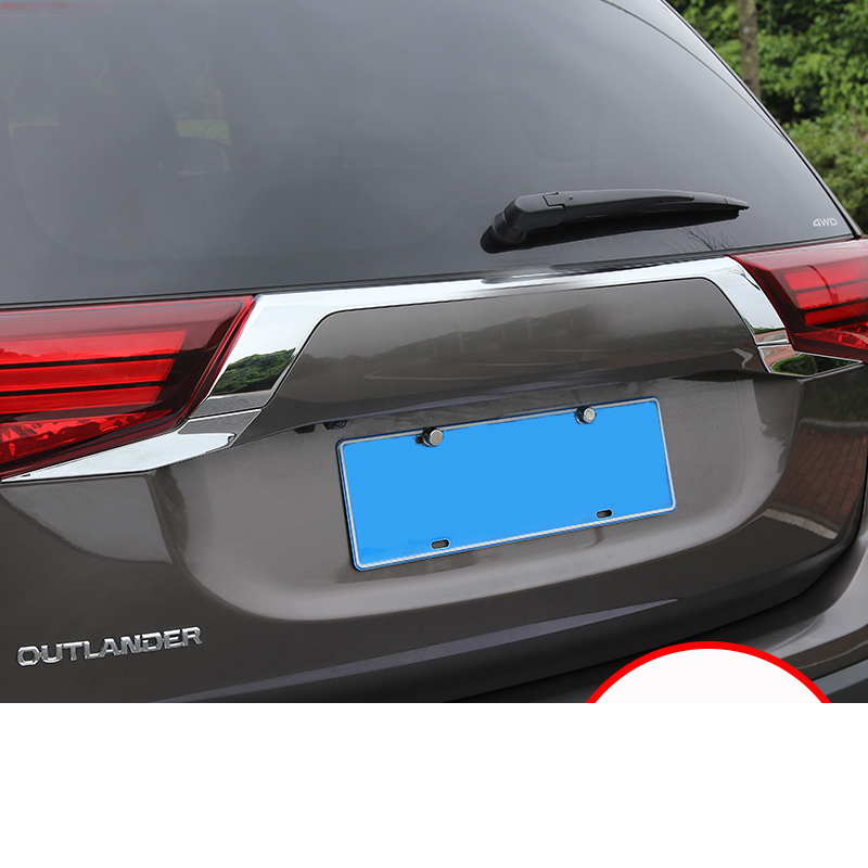 Image 5 - For Mitsubishi Outlander 2016 2017 2018 Rear Light Strips ABS Chrome External Taillight Decoration Cover Trim Car styling  C363-in Chromium Styling from Automobiles & Motorcycles