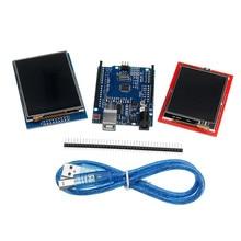 Dla UNO R3 ulepszona wersja + 2.8TFT ekran dotykowy LCD + 2.4TFT ekran dotykowy moduł wyświetlacza zestaw do Arduino