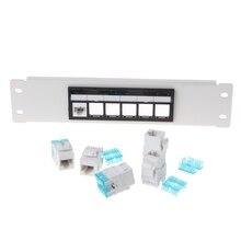 Сетевые инструменты RJ45 CAT6 6 портов патч-панель рамка с RJ45 Keyston разъем модуля