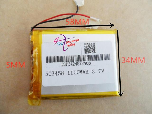 tablet battery  3.7V lithium polymer battery 503458 MP4 7 inch MP3 navigator wireless headset