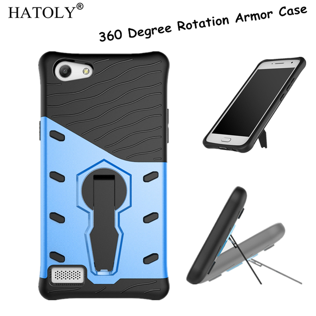 HATOLY For OPPO A33 Case Heavy Duty Armor Shockproof Rugged Silicone Rubber Hard Back Phone Cover For OPPO Neo 7 / A33 A33M A33W