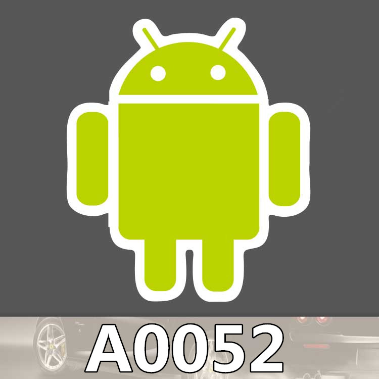 Bevle A0052 font b Android b font Intelligent Robot Phone System Waterproof Sticker for Laptop Luggage