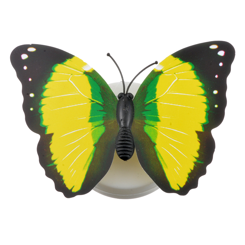 Image 2 - 3D Butterfly night light for children baby Kid Suction Pad Colorful Chang Butterfly LED Night Light Lamp Wedding Party Decor-in Night Lights from Lights & Lighting