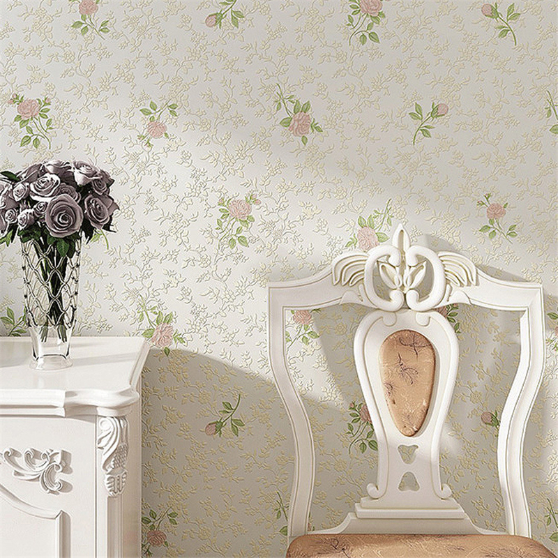 beibehang flowers pastoral Non-woven Papel Parede Mural wallpaper for walls 3 d papel de parede 3D Wall Paper roll papel contact beibehang roll papel mural modern luxury pattern 3d wall paper roll mural wallpaper for living room non woven papel de parede