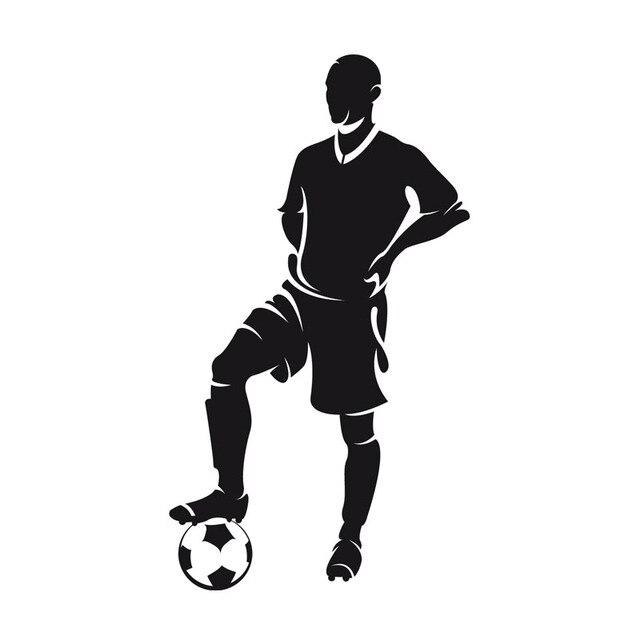 99f1113102 Jogador Estava Com o Pé No Adesivos de Parede Bola de Futebol Home Decor  Crianças Quarto