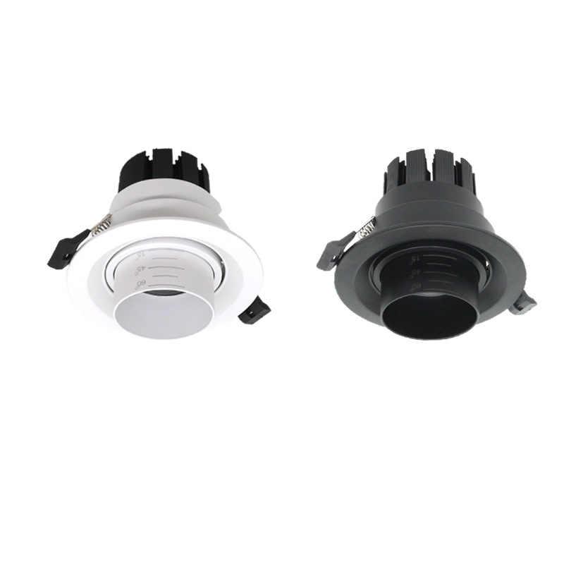 LukLoy Zoom прожектор светодиодный Встроенный потолочный COB чип светильник художественная галерея регулируемый фокус Быки из нержавеющей стали точечные светильники