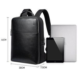 Image 5 - Bopai mochilas de viagem couro casual com 15.6 polegada portátil mochila 2 em 1 multifuncional uso diário saco viagem usb carga
