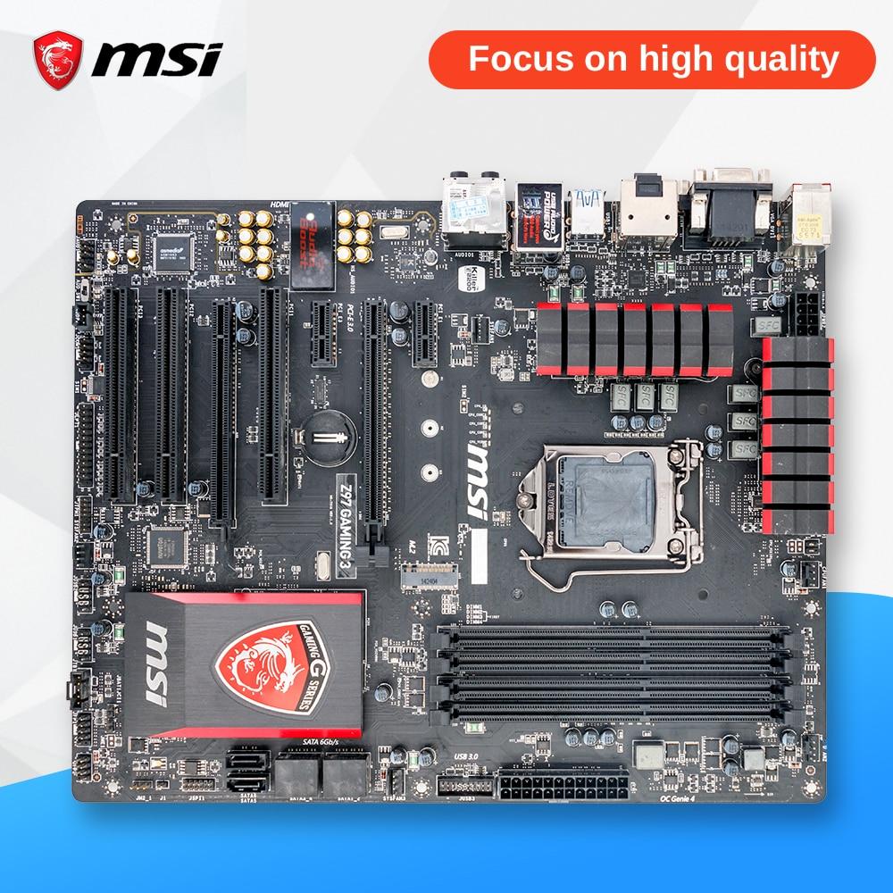 MSI Z97 GAMING 3 Original Used Desktop Motherboard Z97 Socket LGA 1150 i3 i5 i7 DDR3 32G ATX On Sale msi 970a g46 original used desktop motherboard 970 socket am3 ddr3 32g stat3 usb3 0 atx on sale