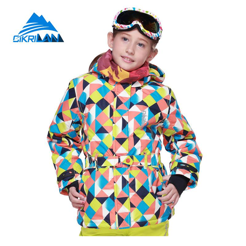 Hot 6-16 Years Kids Girls Winter Outdoor Jacket Sport Snowboard Hiking Camping Waterproof Ski Coat Windstopper Hoodie Parka hot sale windstopper water resistant coat 2in1 hiking winter jacket women outdoor veste breathable camping chaquetas mujer
