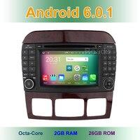 8 كور الروبوت 6.0 سيارة مشغل dvd لمرسيدس/بنز s/cl class w220 W215 S280 s430 s500 s55 CL600 CL55 مع wifi gps راديو bt