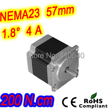 3 pieces per lot  high torque step motor 23HS33-4008S  L 84 mm Nema 23 with 1.8 deg  4 A  200 N.cm and  bipolar 8 lead wires