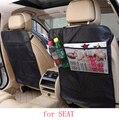 Para SEAT LEON Ibiza EXEO fundas de asiento de coche bebé Falta protector esteras accesorios interiores del coche a prueba de agua de color beige negro