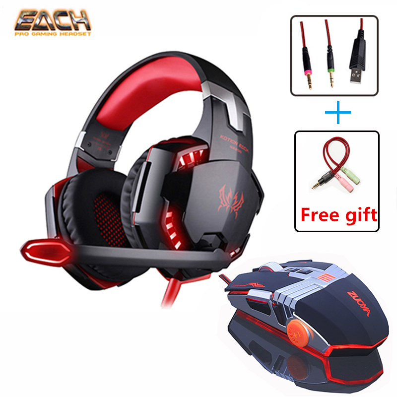 G2000 Headphones Headset Earphone with Mic Volume Control Casque Deep Bass Computer Gaming Headset USB Wired Game Mouse Gamer brand ttlife a8 gaming headset shock led bass sound earphone 2 0m wired headphone voice control with mic for computer gaming