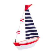 Mediterranean style creative home decoration furnishings Wooden sailboat model small ornaments craft wooden boat