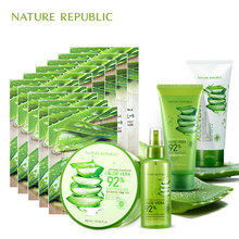 Nature Republic Aloe Moisturizing Oil Control Set Vera Face Mask Facial Spray Cleaner Korean Skin Care
