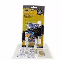 Más nuevas de DIY Kit de Reparación de Parabrisas de Automóvil Coche herramientas de Reparación de Parabrisas de Cristal Auto Set (Dar Manija de La Puerta Pegatinas Protectoras)