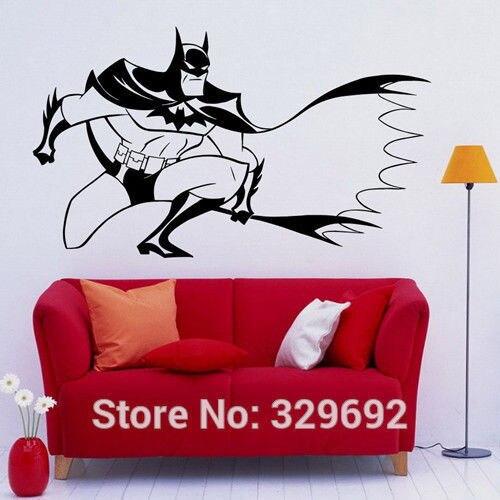 Batman Wall Sticker Foncé Chevalier Super-Héros DC Marvel Comics Vinyle Sticker Home Intérieur Décoration Nursery Murale