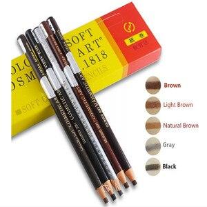 Image 2 - 高品質 12 ピース/ロット 5 色本物のトップの持続フルレーザー化粧品眉毛鉛筆で送料無料