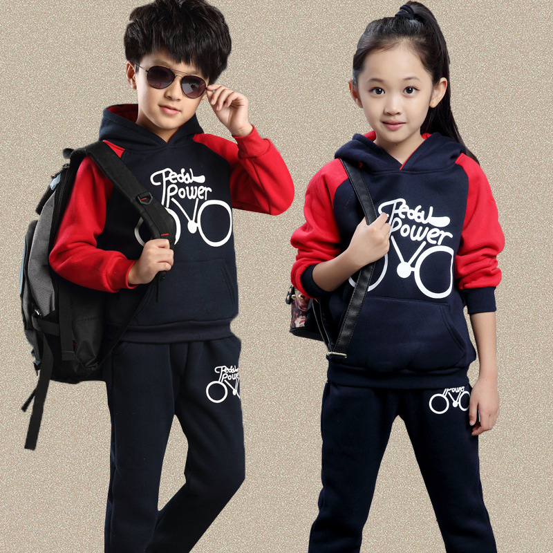 New Sports Boy T Shirts Child Spring Sport Hooded T Shirt+Pants Sets Children's Clothing Boy Pants Casual Suit Size 110-150 tropical tape detail hooded sweater shirt with drawstring pants
