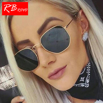 RBROVO 2018 Summer Polygonal Women Sunglasses Men Glasses Lady Luxury Retro Metal Sun Glasses Vintage Mirror UV400 Oculos De Sol