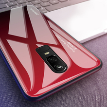9H Scratch Proof Gradient Glass Case For Oneplus 7 Pro 6T 6 Back Cover Funda Protective Cases Mobile Phone Shell
