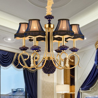 Villa Vintage Rustic French Style Ceramic Roses Copper Chandelier Light Home Lighting Chandeliers Creative Led Lamp