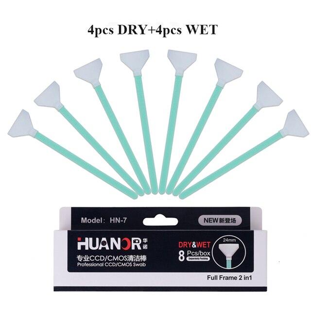 Professional 8pcs Dry + Wet Sensor Cleaner Full Frame 24mm CCD SWAB ...