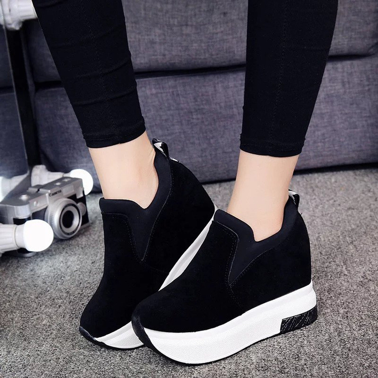 XEK 2018 Women Increased Shoes Women Fashion Platform Loafers Printed Casual Shoes Woman Wedges Shoes Breathable ZLL300 19