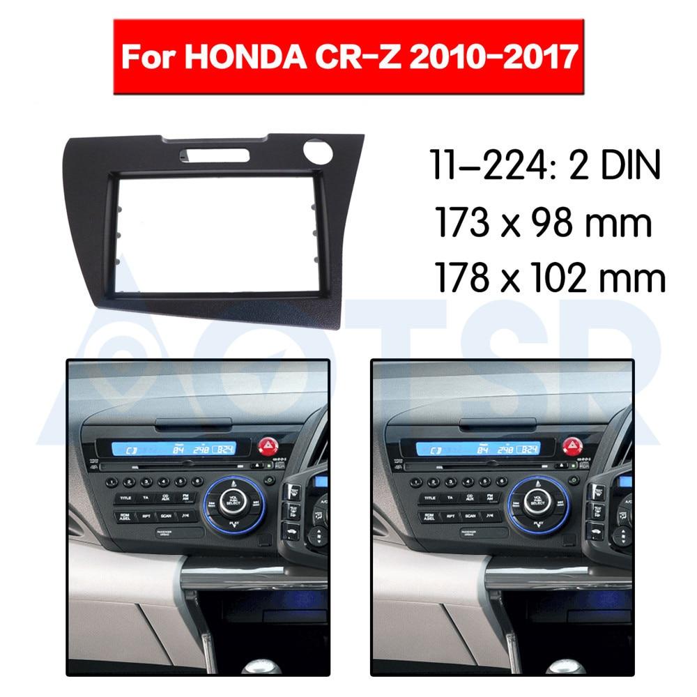 Otomobiller ve Motosikletler'ten Sargılar'de 2 din Radyo Fasya HONDA CR Z 2010 2017 Stereo Ses Paneli Montaj Kurulum Dash Kiti Çerçeve Adaptörü Radyo stereo DVD CD