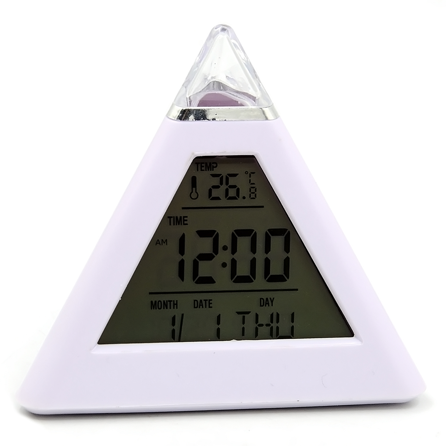 Gosear Multi-function 7 Colors Changing <font><b>LED</b></font> Backlight Alarm Clock LCD Desktop Digital Timer Calendar Thermometer Music Clock