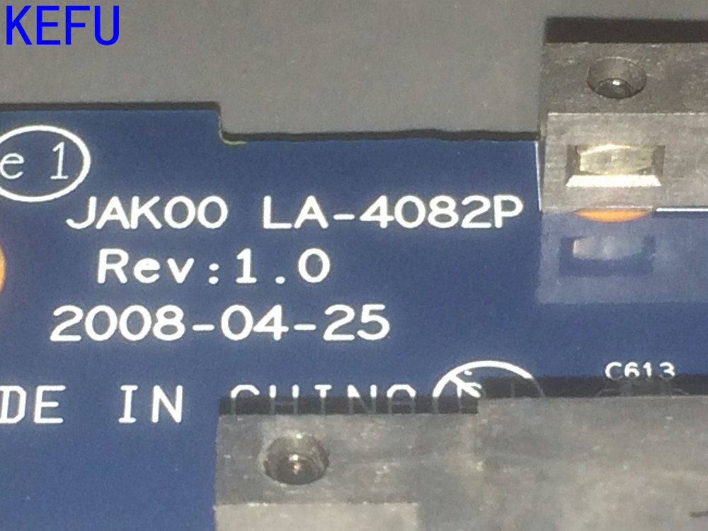 KEFU HOT IN EUROPE.... New !!! Free Shipping JAK00 LA-4082P REV : 1.0 Laptop Motherboard For HP Pavilion DV7 Notebook  PC