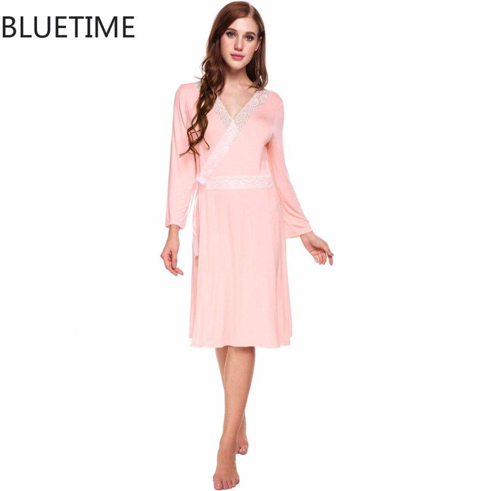 ee373c55b2 Summer Sexy Dressing Gown Women 3 4 Sleeve Short Kimono Bathrobe Spa Robe  Sleepwear Homewear Night ...