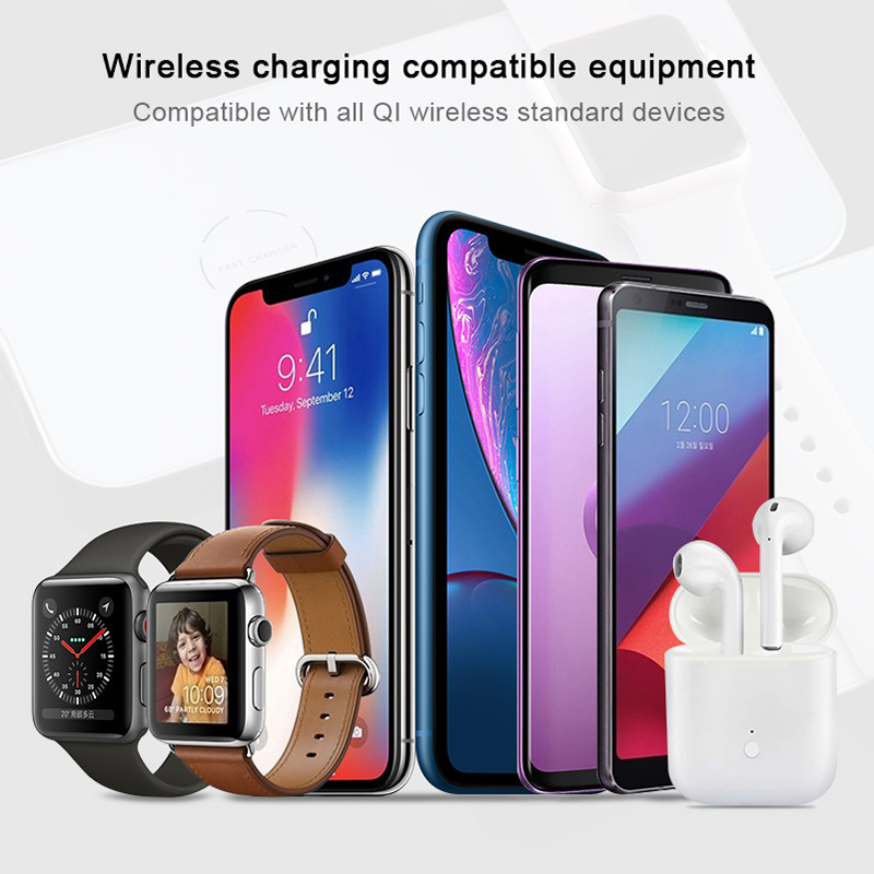half off 4b78b 0f13b US $48.99 |Vrurc 3 in 1 Qi Wireless Charger For iPhone X Xs 8 Plus For  Apple Watch 4 1 2 3 QC3.0 Quick Charging Pad For apple watch charger-in ...